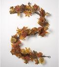 Blooming Autumn 66\u0027\u0027 Realistic Leaf & Pinecone Garland