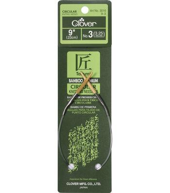 "Bamboo Circular Knitting Needles 9""-Size 3"