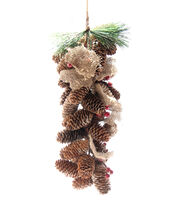 Blooming Holiday Pinecone Burlap & Berry String, , hi-res