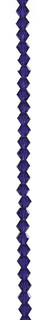 7\u0022 Bead Strands - Sapphire Blue Crystal Bicones, 6mm