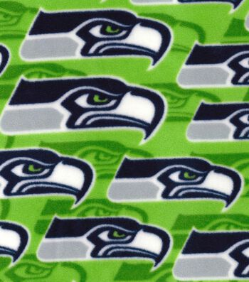 "Seattle Seahawks Fleece Fabric 58""-Logo"