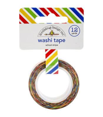 Sch Stripe-school Washi Tape