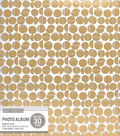 K&Company White and Gold Broken Dot Binder Magnetic Photo Album