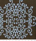 Robert Allen @ Home Lightweight Decor Fabric 54\u0022-Soft Scrolls Espresso