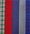 Fat Quarter Bundle Cotton Fabric 18\u0027\u0027-Blue Plaid