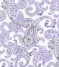 Nursery Flannel Fabric 42\u0022-Lilac Paisley