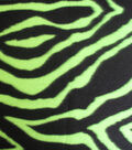 Anti-Pill Fleece Fabric 58\u0022-Fluorescent Lime Zebra