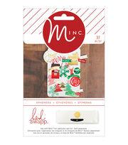 Heidi Swapp Minc Christmas Ephemera 37/Pkg, , hi-res