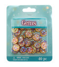 Round Faceted Gems 40mm-Red Crystal