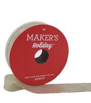 Maker's Holiday Christmas Shiny Satin Ribbon 7/8''X9'-Gold & Silver, , hi-res