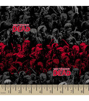 "Walking Dead Cotton Fabric 43""-Zombie Stripes, , hi-res"