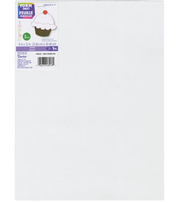 Darice Foamies Foam Sheet 3mm 9''X12'' 10pcs