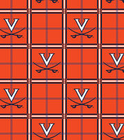 "University of Virginia Cavaliers Flannel Fabric 42""-Plaid, , hi-res"