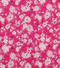 Keepsake Calico™ Cotton Fabric 43\u0022-Raspberry Packed Ditsy Floral