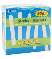 "Woodsies Jumbo Craft Sticks-Natural 6"" 300/Pkg, , hi-res"