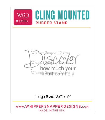 Whipper Snapper Designs Cling Stamp-Discover