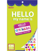 Darice Sticker Book-436PK/Hello My Name Is, , hi-res