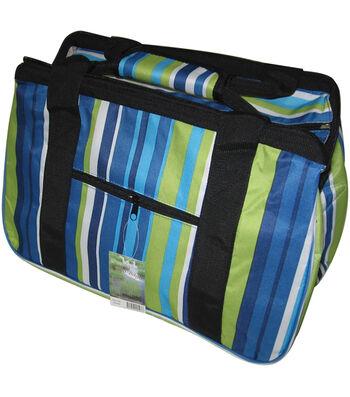 "JanetBasket Blue Stripes Eco Bag-18"" x 10"" x 12"""