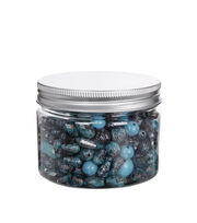 hildie & jo™ Fashion Beads in Plastic Jar-Green, Silver & Black, , hi-res