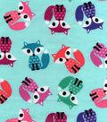 Snuggle Flannel Fabric 42\u0022-Coloful Foxes