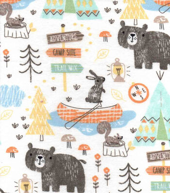 "Snuggle Flannel Fabric 42""-Camping Mix"
