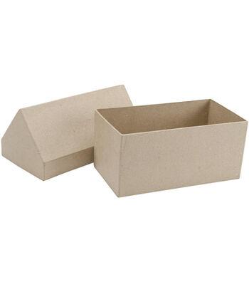 Paper-Mache Gingerbread House Box