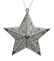 Maker's Holiday Christmas Arctic Frost Mirror Star Ornament, , hi-res