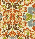 P/K Lifestyles Print Fabric 54\u0022-Folk Damask/Terracotta