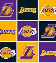 "LA Lakers Fleece Fabric 58""-Block, , hi-res"