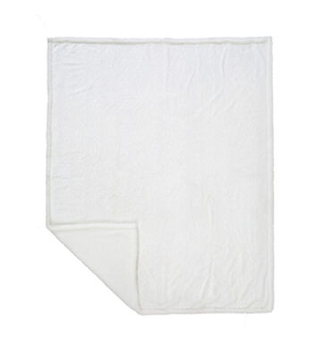 Embossed Polyester Throw 50''x60''-Ivory
