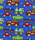 Nursery Cotton Fabric 44\u0022-Transportation Allover