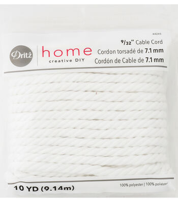 """Dritz Home 0.28"""" x 10Yds Cable Cord"""