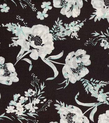 """Silky Prints Crepe Fabric 56""""-Floral"""