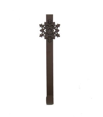 Blooming Holiday Christmas Snowflake Wreath Holder-Brass