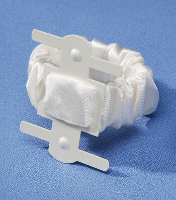 Darice® Pearl Satin Covered Wrist Corsage Clip-White