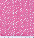 Keepsake Calico Cotton Fabric 44\u0022-Irregular Dots On Rose Pink