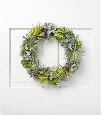 Fresh Picked Spring 19'' Succulent Wreath