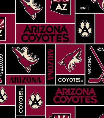 Arizona Coyotes Fleece Fabric 60''-Block
