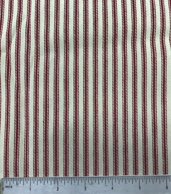 Cotton Ticking Mattress Utility Fabric 57''-Red