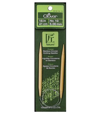 "Clover Bamboo 16"" Circular Knitting Needle-Size 10"