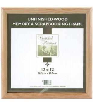 darice wooden memory frame 12x12 unfinished - Wooden Poster Frames