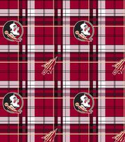 "Florida State University Seminoles Fleece Fabric 60""-Plaid, , hi-res"