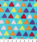 Blizzard Fleece Fabric 59\u0022-Foxy Triangles