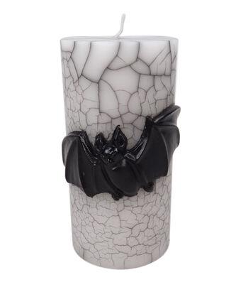 Maker's Halloween 3''x6'' Pillar Candle-Black Bat Icon