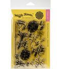 Waffle Flower Crafts 14 pk Clear Stamps 4\u0027\u0027x6\u0027\u0027-Stitched Morning Glories