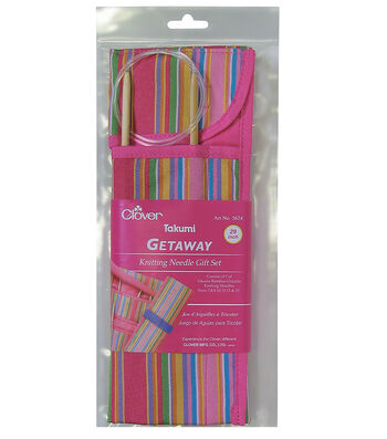 "Clover 29"" Getaway Takumi Circular Knitting Needles Gift Set"
