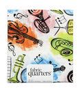 Fabric-Quarters Assorted Fabric-Music