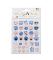 American Crafts™ Memory Planner Emoticon Stickers, , hi-res