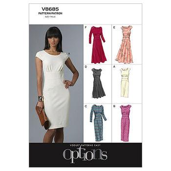 Vogue Patterns Misses Dress-V8685