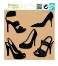 Embellishment Silhouette Large-Shoe Lover-5 Pcs-Black